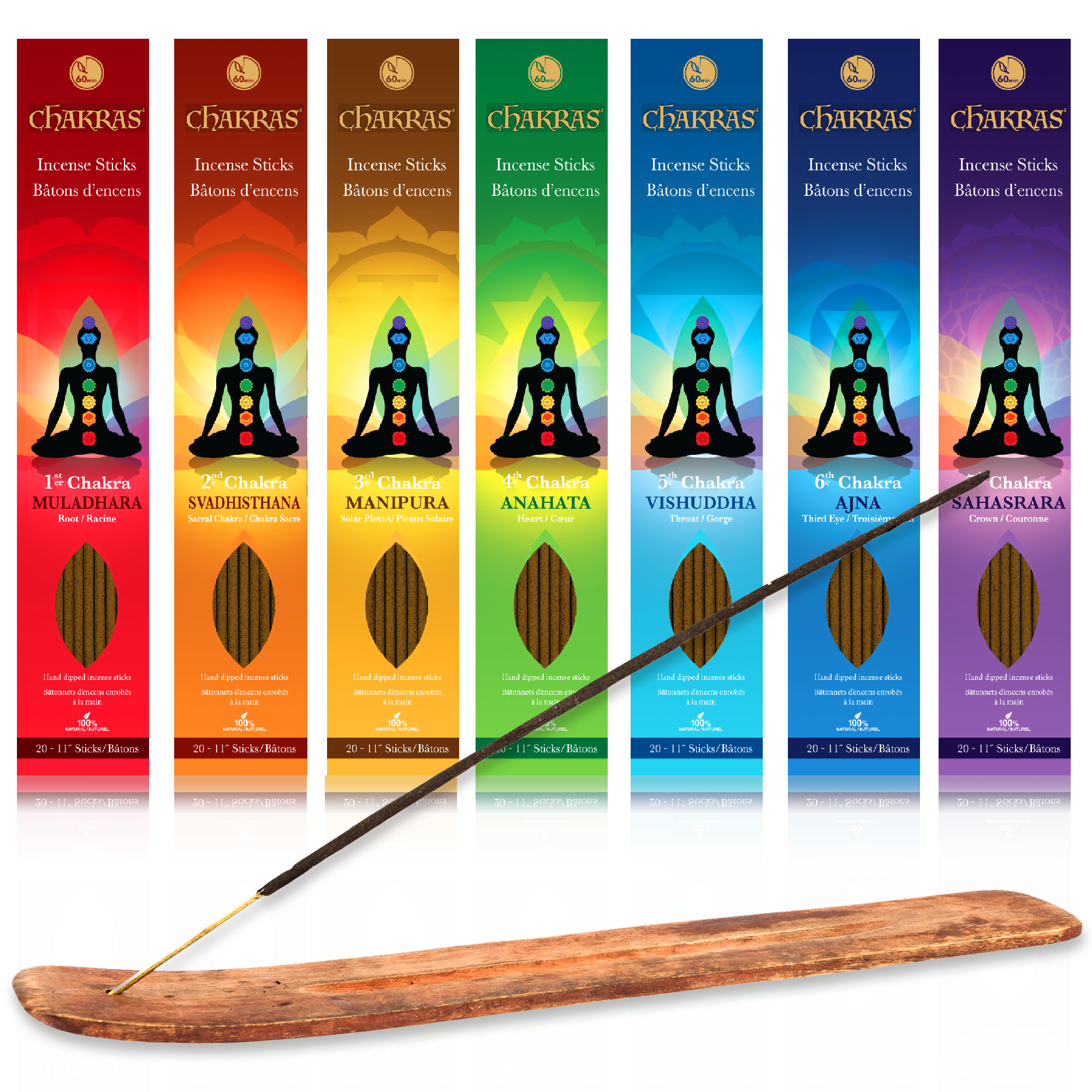 Chakras Incense Root to Crown Set
